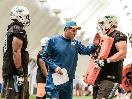 Black Jerseys at Miami Dolphins Practice