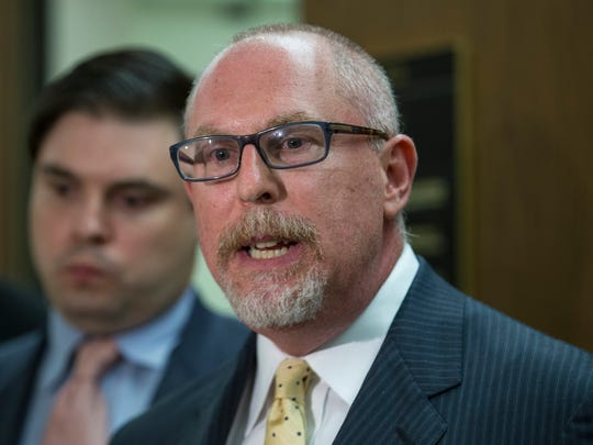 Attorney Jeffrey Ehrlich, right, said his client's wrongful conviction was based on speculation by criminal profiler Mark Safarik. (Irfan Khan/Los Angeles Times/TNS)