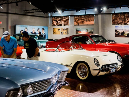 The 1950s/60s Gallery is an exhibit at the Gilmore Car Museum in Hickory Corners on Aug. 4, 2017.