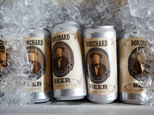 Borchard Beer, made with five different malts and brewed