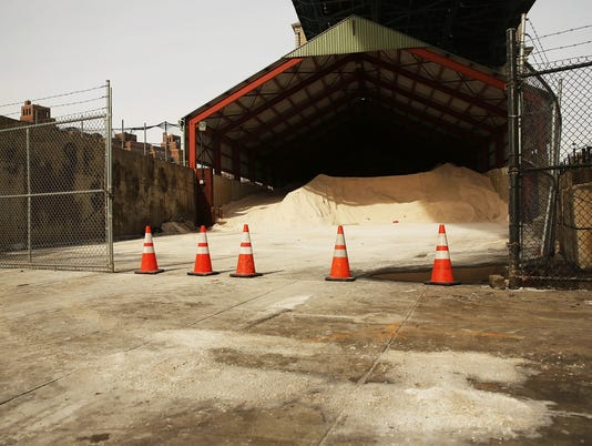 New York City Prepares For Winter Storm Bring More Snow To Area