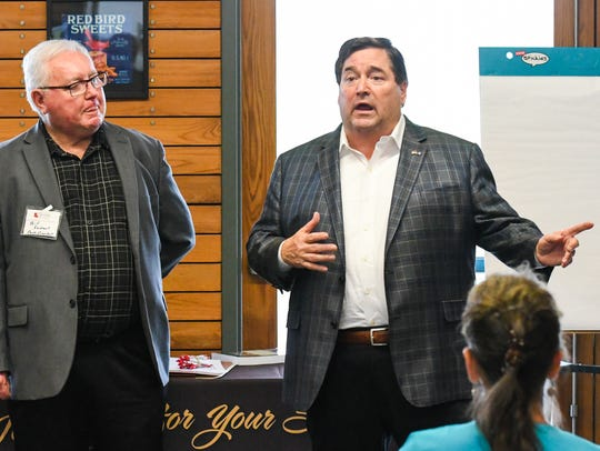 Lt. Gov. Billy Nungesser in Opelousas for a roundtable