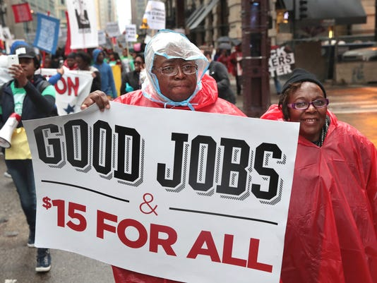"""Activists Hold A """"March To McDonald's"""" To Push For $15 Wage In Chicago"""