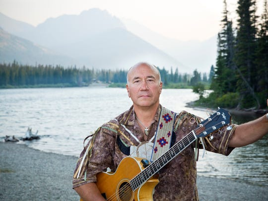 Musician and Blackfeet Cultural Spokesman Jack Gladstone performs at Arts on Fire Saturday.