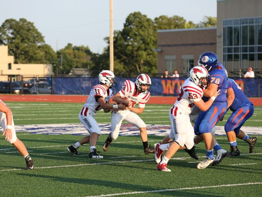 New Palestine runs against Whiteland.