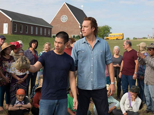 "John Corbett (right) and Nelson Lee star in the faith-fueled drama ""All Saints."""