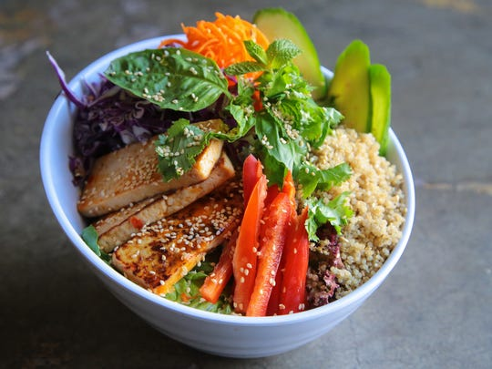The Tasty Thai Tofu bowl is served at Chef Tanya's Kitchen, August 23, 2017.