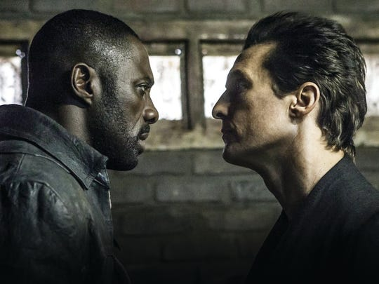 """Idris Elba and Matthew McConaughey appear in a scene from """"The Dark Tower."""""""