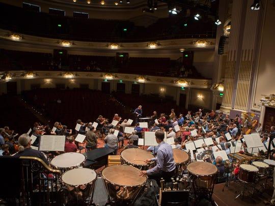CSO rehearsal in Usher Hall, Edinburgh, for its performance