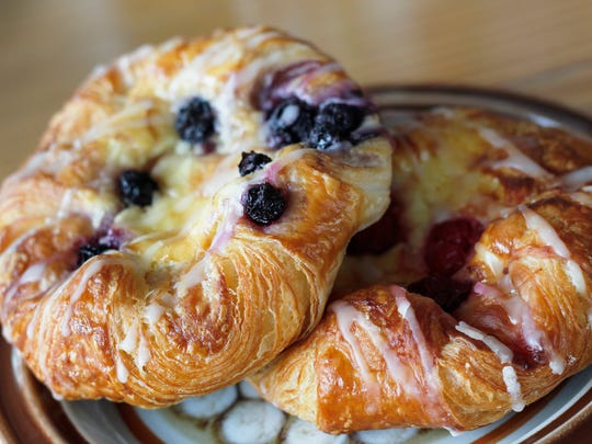 The blueberry and cherry pinwheel pastries at Scenic