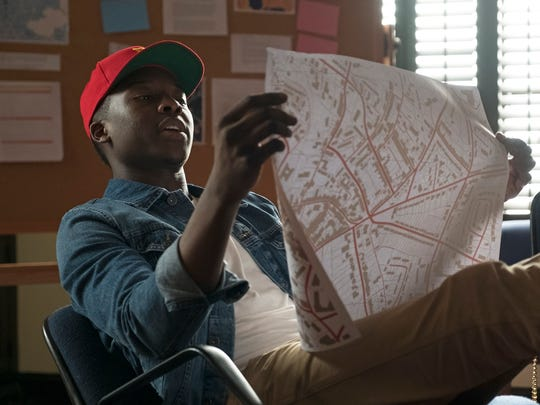 "This image released by ABC shows Brandon Micheal Hall in a scene from, ""The Mayor,"" premiering Oct. 3, on ABC."