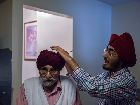 JJ Singh Kapur tightens up his grandfather, Amarjit's