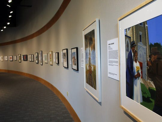 An illustration by James E. Ransome, right, is the final piece in an exhibit of 60 artists whose work has been presented the past 20 years at the National Center for Children's Illustrated Literature.