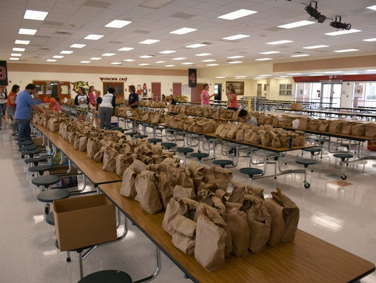 Completed lunches are ready for pickup or delivery.
