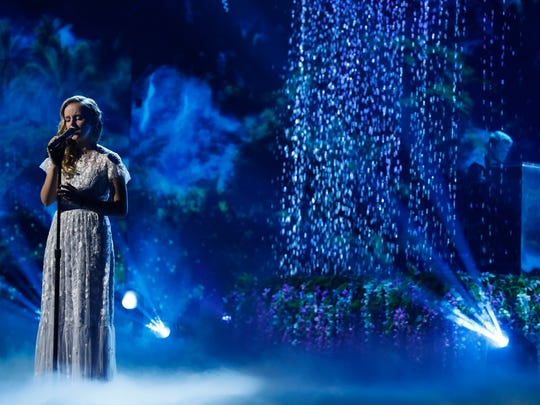 "Evie Clair of Florence performs in the finale of Season 12 of ""America's Got Talent"" on Tuesday, Sept. 19, 2017."