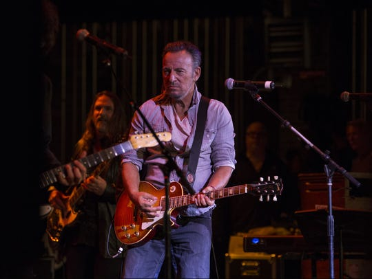 Bruce Springsteen at the Paramount Theatre in Asbury Park on April 21, 2017.