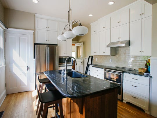 The remodeled kitchen in the home of Bill and Nancy DeFrance in downtown Eaton Rapids.