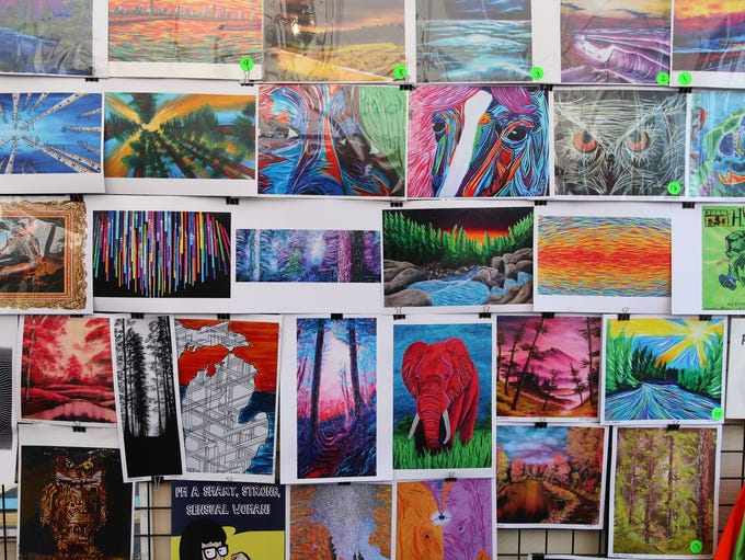 Record-high temperatures didn't stop hundreds of art