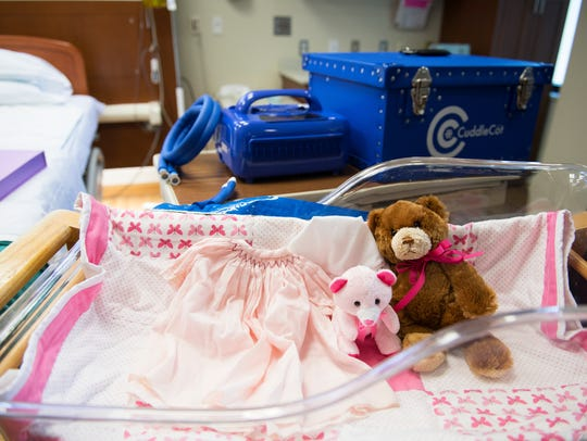 Stuffed animals and clothing that was given to the