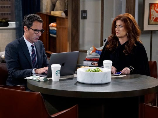 Eric McCormack as Will Truman and Debra Messing as