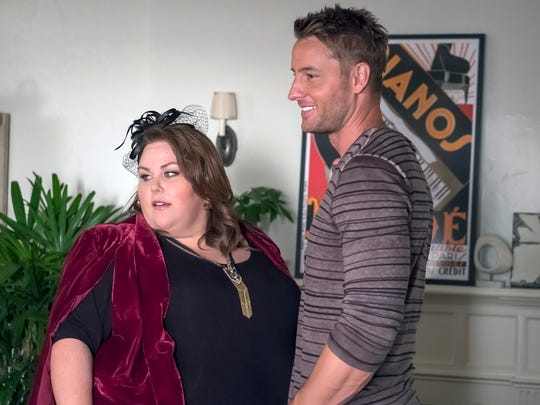 Chrissy Metz as Kate and Justin Hartley as Kevin on