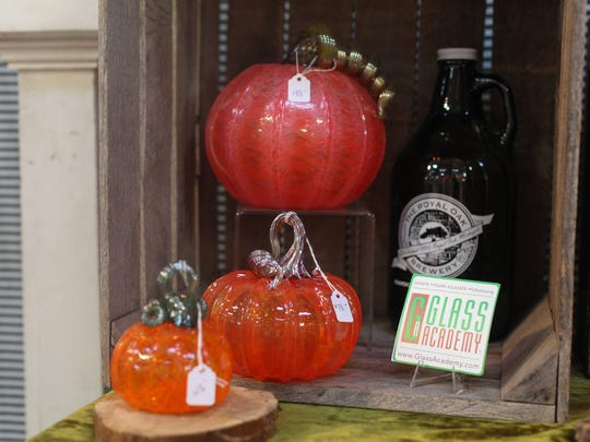 You can take in glassblowing demonstrations this weekend at the Glass Academy, which is celebrating pumpkin season.
