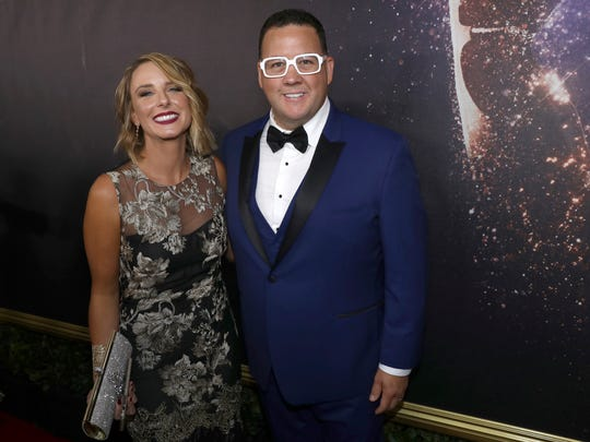 Allie Elliot, left, and Graham Elliot appear at the 69th Primetime Emmy Awards on Sunday, Sept. 17, 2017, at the Microsoft Theater in Los Angeles.