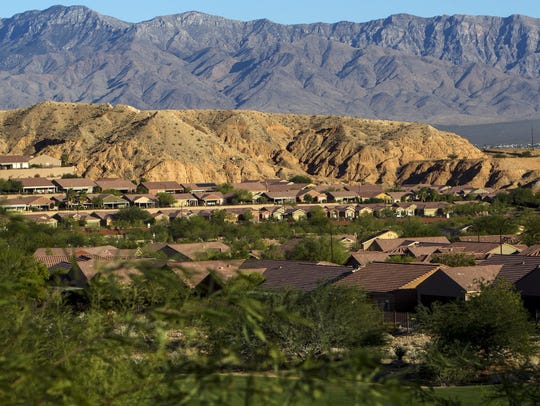 A neighborhood near Stephen Paddock's home is pictured