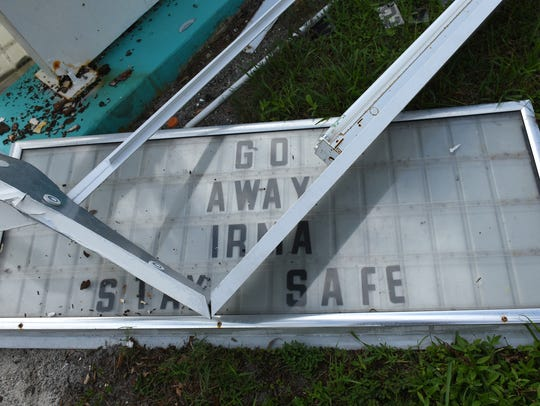 The school did fine in Irma - the sign out front, not