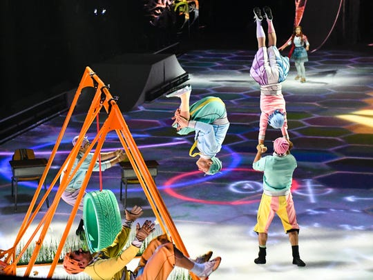 Dress rehearsal performance of Cirque Du Soleil's Crystal