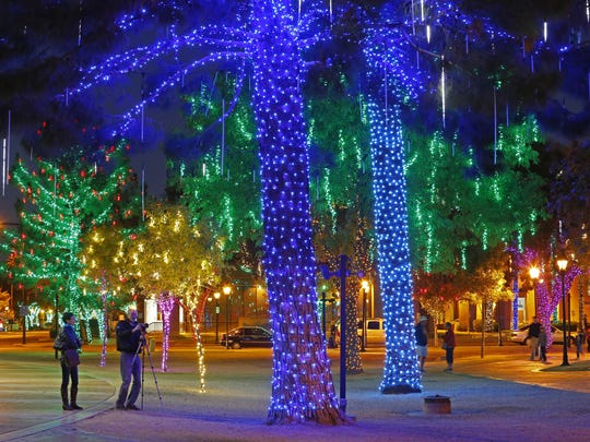 Historic downtown Glendale lights up during the holidays,