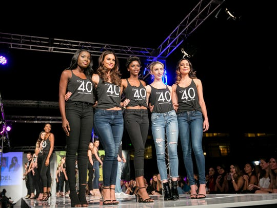 The top five finalists for Model of the Year during Phoenix Fashion Week at Talking Stick Resort in Scottsdale on Saturday, Oct. 7, 2017.