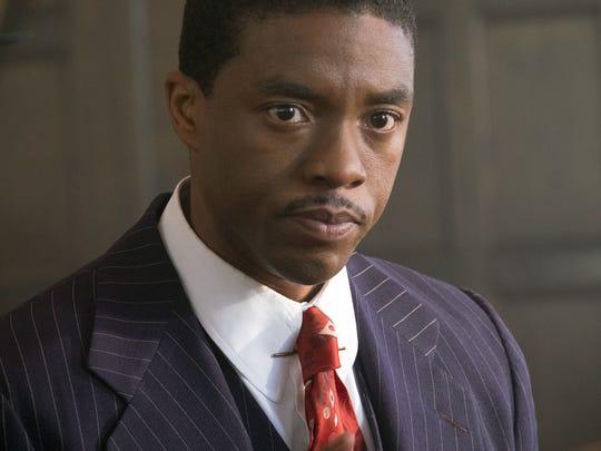 "Chadwick Boseman stars as crusading civil-rights attorney Thurgood Marshall in ""Marshall."""