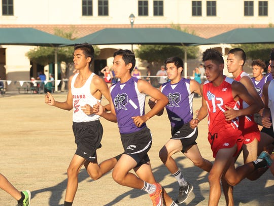 Runners compete in the second Desert Valley League