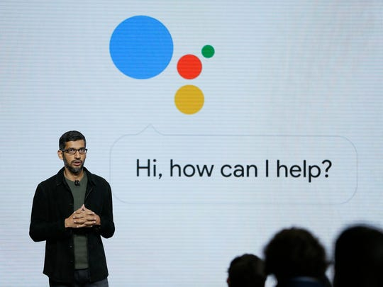 In this Tuesday, Oct. 4, 2016, file photo, Google CEO Sundar Pichai talks about the new Google Assistant during a product event in San Francisco. Pichai says he does not regret firing James Damore.