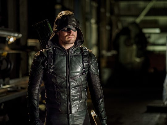 Stephen Amell as Oliver Queen/The Green Arrow on 'Arrow.'