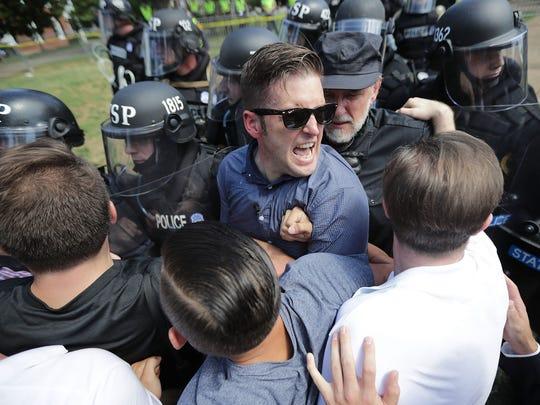 White nationalist Richard Spencer in Charlottesville,