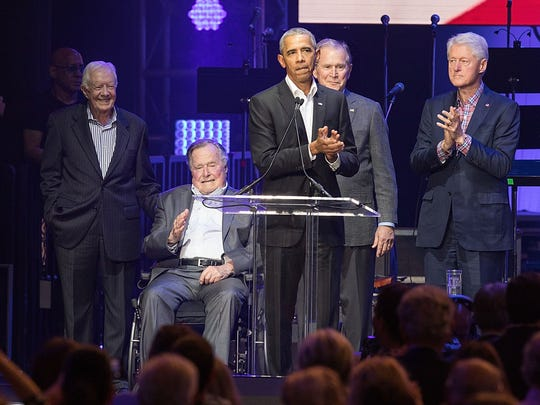 Obama joins fellow former presidents Jimmy Carter,