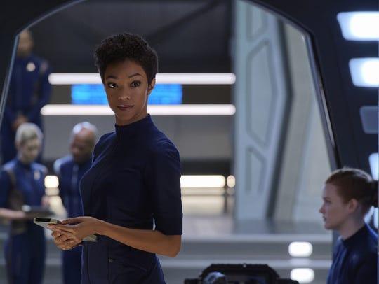 Sonequa Martin-Green as Michael Burnham on 'Star Trek: