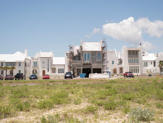 New construction off East County Highway 30A near Rosemary