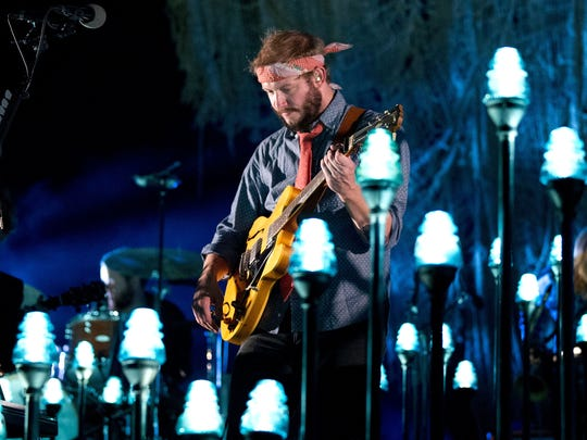 Justin Vernon of Bon Iver performs at Radio City Music Hall in New York in 2012.