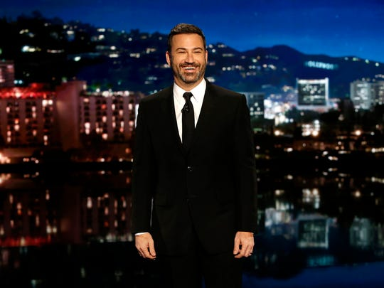 """Jimmy Kimmel says he thinks the Harvey Weinstein sexual-harassment scandal will """"make the guys who do this kind of thing think twice."""""""