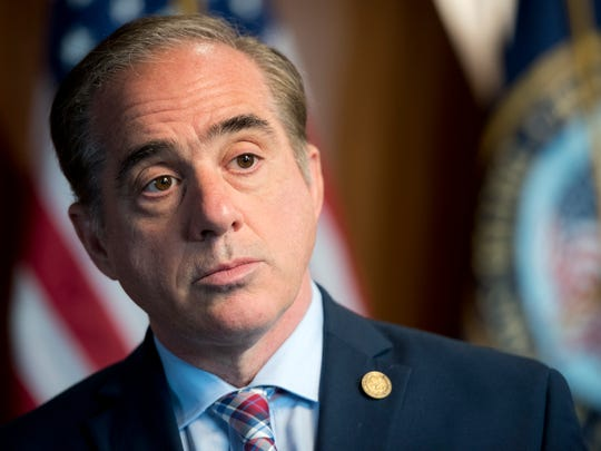 A portrait of David Shulkin, secretary of the Department of Veterans Affairs, in his office at VA headquarters in Washington, D.C.