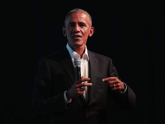 Former president Barack Obama speaks at the inaugural