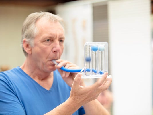 Lung function test by using Triflow