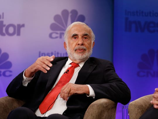 File photo taken in 2015 shows billionaire investor Carl Icahn during an appearance at a CNBC financial conference.