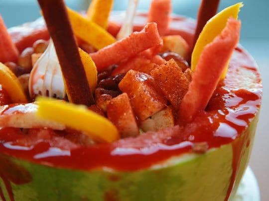 Sandia loca is one of the popular menu items at La Michoacana, November 2, 2017.