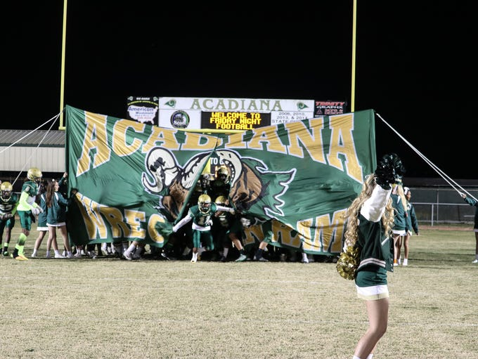 The Acadiana Wreckin' Rams beat the Comeaux Spartans,