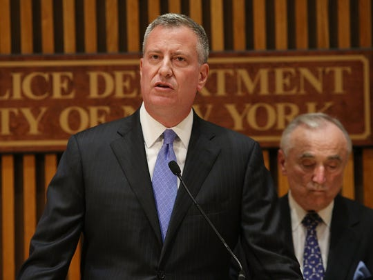 New York Mayor Bill de Blasio will have to soon decide whether to sign or veto a bill that will require all new public bathrooms have changing tables — including the men's rooms.