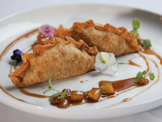 Apple-Brie Empanadas at Seviche, A Latin Restaurant